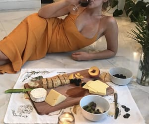 food, girl, and wine image
