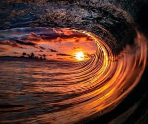 photography, wave, and ocean image