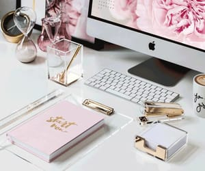 gold, pink, and office image
