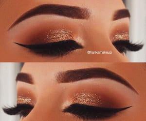 beautiful, brown, and eye makeup image