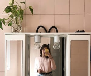 bathroom, girl, and interior image