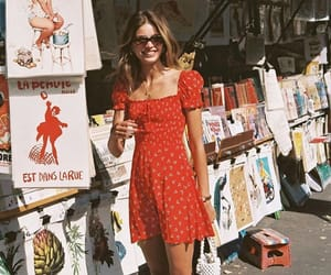 girl, red, and summer image