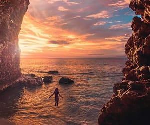 nature, sunset, and bali image