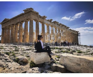 acropolis, Athens, and Sunny image