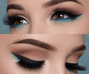 beauty, eyeliner, and blue image