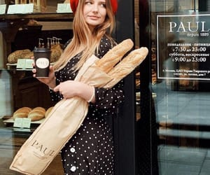 bakery, beret, and bread loaf image