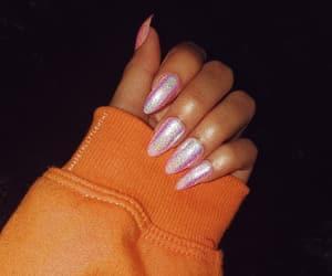 beauty, fake nails, and hologram image