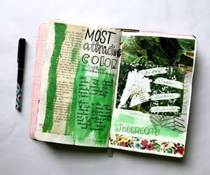 art, journaling, and journals image