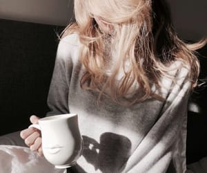 blonde, coffee, and cosy image