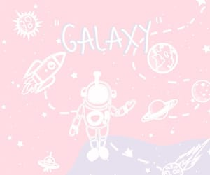 alien, astronaut, and planets image