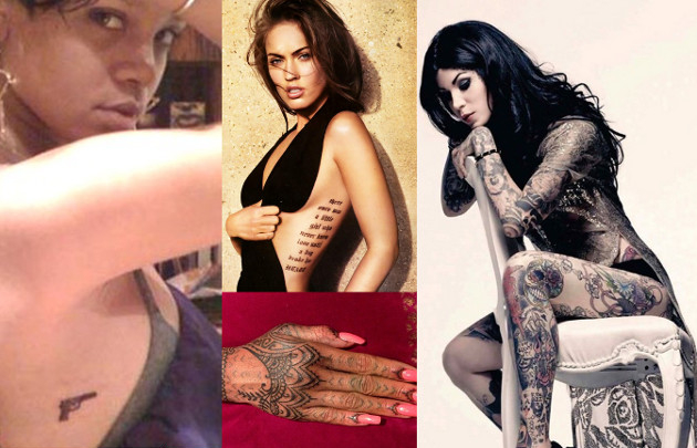 95d63d10e Tattoos of Rihanna Megan Fox and Kat Von D. on We Heart It
