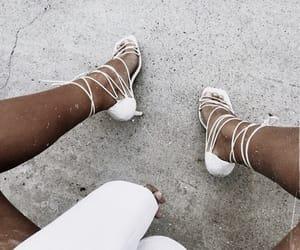 fashion, heels, and whi image