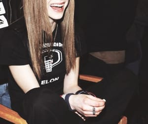 Avril Lavigne, smile, and singer image