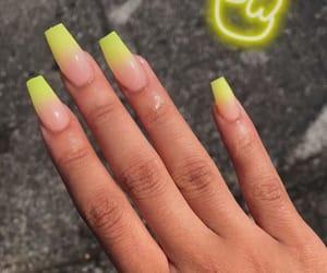 girl, almond nails, and nail art image