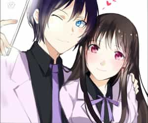anime, in love, and couple image