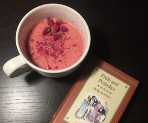book, jane austen, and petals image