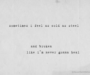 broken, depressing, and sad image