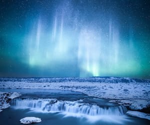 aurora borealis, beautiful, and blue image