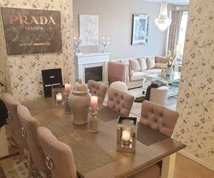 dining room, glam, and home image
