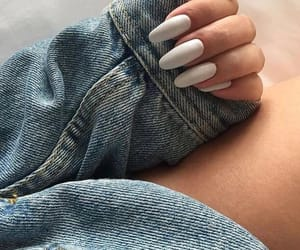 nails, girl, and jeans image