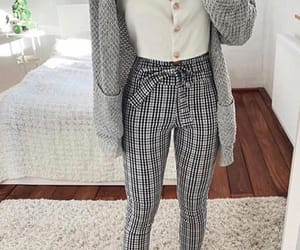 checked, fashion, and goals image