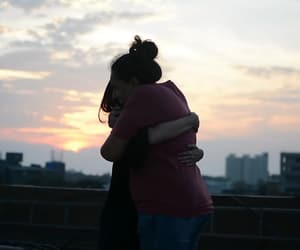 couple, cuddle, and hug image