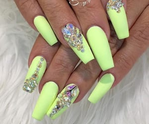 green, neon green, and nails image