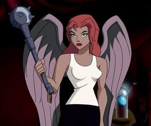 cartoon, justice league, and shayera image