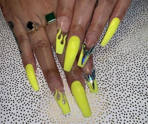 bedazzled, ghetto, and nails image