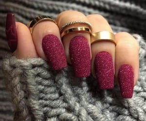 nails, rings, and nail art image