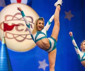 cheerleader, flexibility, and cheerleading image
