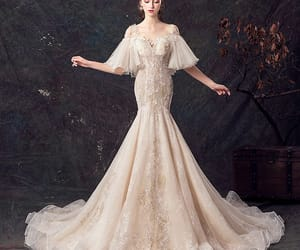 bridal, elegant wedding dress, and bridal gown image