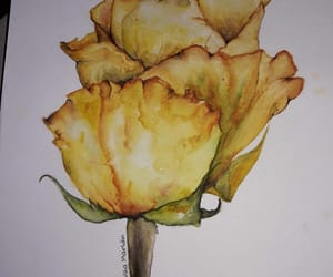 art, flower painting, and flower image