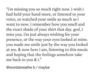heartbreak, missing you, and wquote image