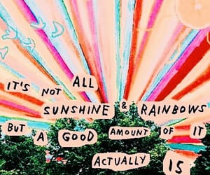 Collage, quote, and rainbows image