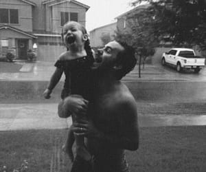 family, rain, and baby image