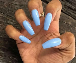 coffin, nails, and sky blue image