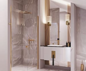 bathroom, chic, and decor image