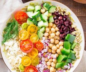 healthy, hummus, and salad image