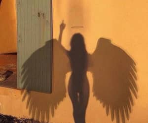 angel, heavenly, and wings image