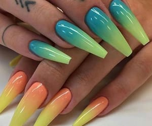 rainbow nails image