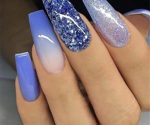 blue nails image