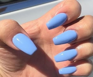 manicure, nail art, and holografic nails image