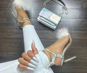 high heels, shoes, and yslbag image