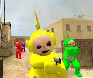 funny, grunge, and teletubbies image