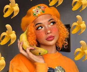 makeup, orange, and girls image