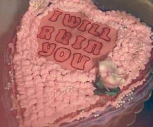 cake, flowers, and grunge image