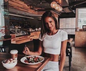 girl, food, and theme image