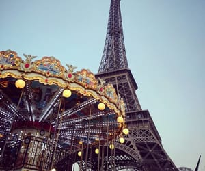 carousel, paris, and photographie image