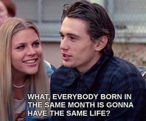 freaks and geeks, james franco, and horoscope image